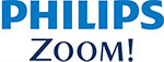 Image of words spelling 'PHILIPS ZOOM'